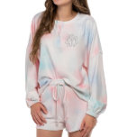 """Personalized Tie Dye Pajama Set<br><div class=""""desc"""">These adorable Tie-Dye Pajamas include a long sleeve shirt and a comfy stretch waistband short. Make the yours with custom personalization!</div>"""