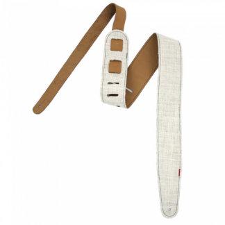 White Burlap Guitar Strap