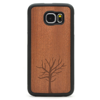 Engraved Rosewood Galaxy S6 Case - Rustic Tree