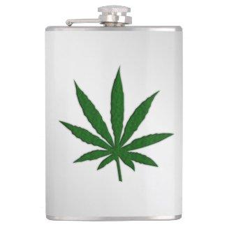 Weed Leaf Hip Flask