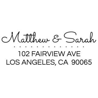 Matthew & Sarah Return Address Stamp
