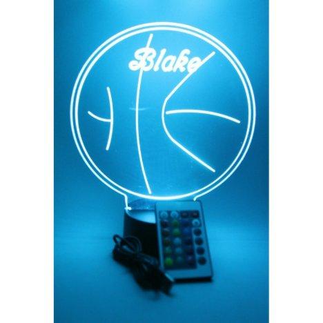 Basketball Sport Night Light Lamp LED Personalized