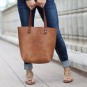 The Ashley Tote Personalized Fine Leather Handbag