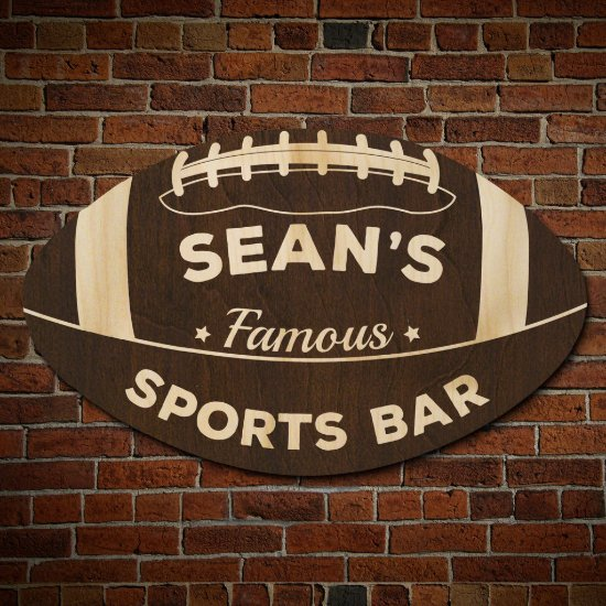 Football Fan Sports Bar Sign (Signature Series)