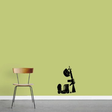 Small Military Gear Wall Decal