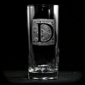 Winding Vines Monogrammed Cooler Glass