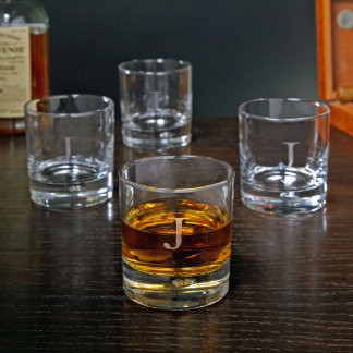 Personalized Bryne Double Old Fashioned Glasses, J