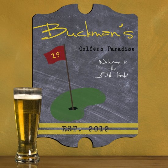 Personalized Man Cave Bar Signs - Golf