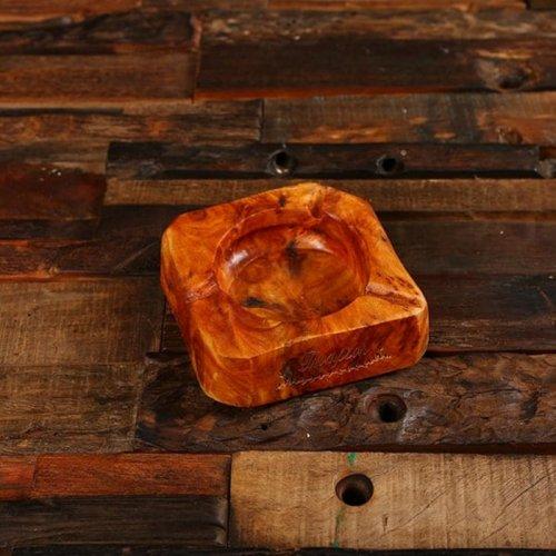 Sophisticated Natural Wood Cigar Ashtray