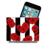 Poppies w/Stripes Stainless Steel Magnetic Desk Bi