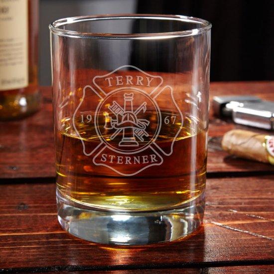 Engraved Firefighter Eastham Whiskey Glass