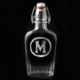 Monogrammed Glass Flask