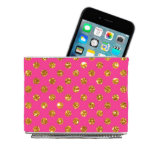 Pink w/Gold Polka Dots Magnetic Desk Bin