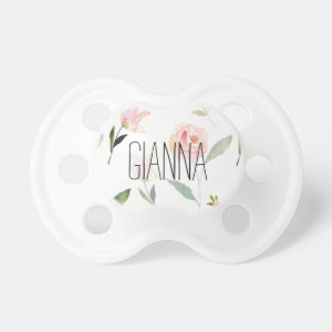 Beautiful Watercolor Floral Pacifier