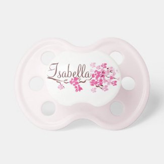 """Isabella"" Personalized Cherry Blossom Pacifier"