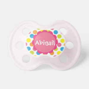 Candy Dots Personalized Pacifier