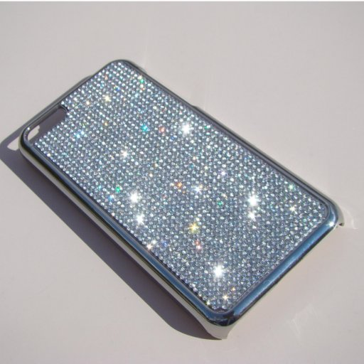 Trendy Sparkly Clear Crystal iPhone 5C Silver Case