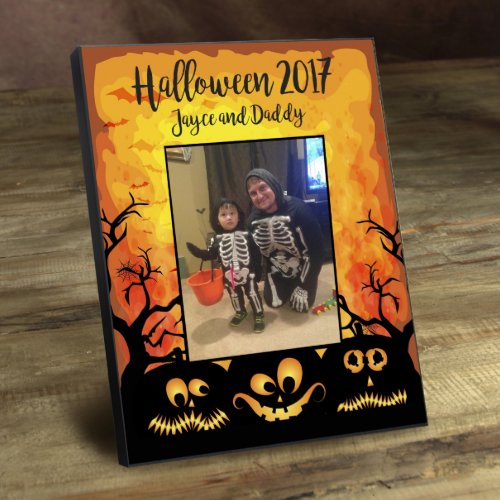 Halloween Creepy Pumpkin Family Picture Frame