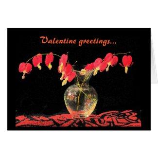 Bleeding Hearts Valentine Card