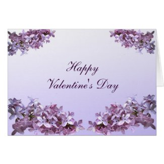 Lovely Lilacs Valentine Card