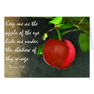 The apple of thine eye - Scripture Greeting Card