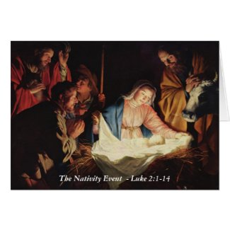 Nativity Event Card