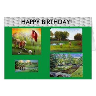 Golfers Happy Birthday card! Card