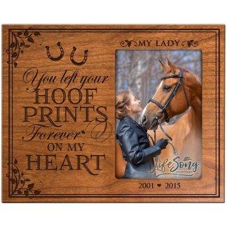 Hoof Prints Pet Memorial Cherry Picture Frame