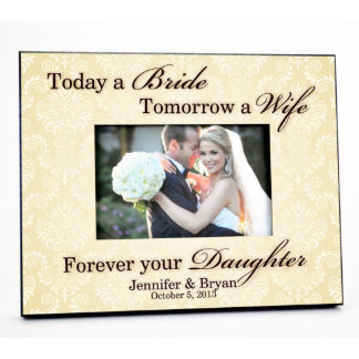 Personalized Wedding Picture Frame for 4x6 Photo