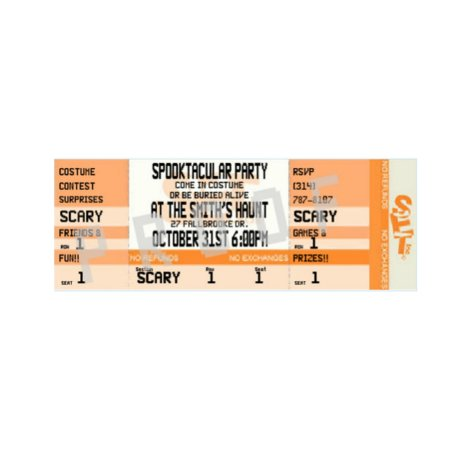 Orange Halloween Party Ticket Invitations