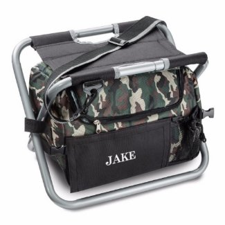 Personalized Camouflage Sit n' Sip Cooler Chair