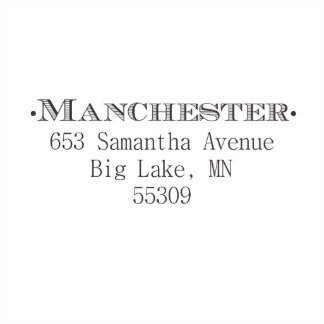 Manchester Self Inking Stamp