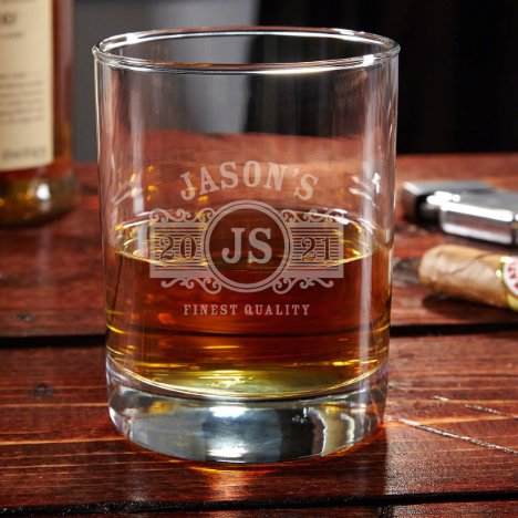 Marquee Monogram Engraved Eastham Whiskey Glass