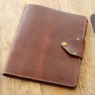 Personalized Brown Leather Vanderbilt Portfolio