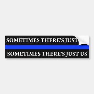 Police Blue Thin Line Bumper Sticker(Justice) Bumper Sticker