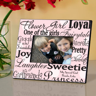 Pink Dots Personalized Flow Girl Picture Frame