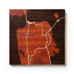 San Francisco, CA por los mapas del grabar en made