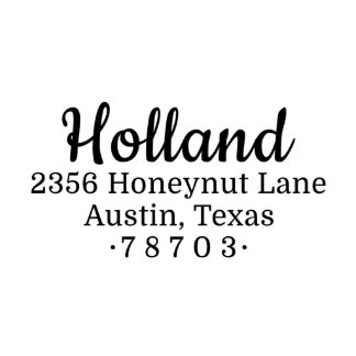 Honeynut Self Inking Return Address Stamp