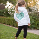 "Cute Flower Girl Bridal Party Fleece Hoodie<br><div class=""desc"">Your flower girl will be so excited to wear this adorable sweatshirt!  Super soft,  zip up white fleece hoodie,  printed with a sparkling glitter flower girl heart on the back.</div>"