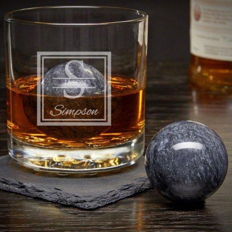 Whiskey Spheres & Oakhill Rocks Whiskey Glass