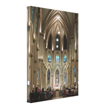 Cathedral-Arches & Glass - Guayaquil, Ecuador Canvas Print