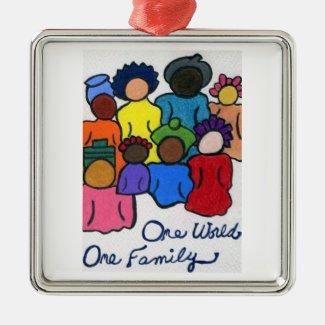 1 World, 1 Family Holiday Tree Ornament