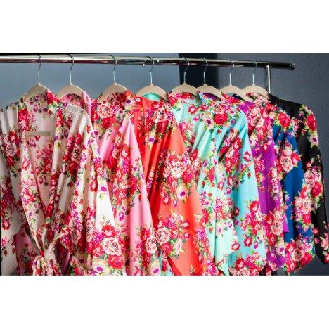 Elegant Floral Bridesmaid Cotton Robe