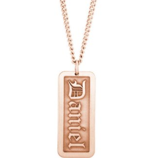 Monogram Dog Tag Necklace