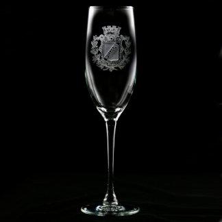 Flauta de champán personalizada escudo real