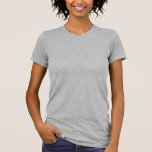 """<p>Back to basics never looked better. This best-selling women's tee by American Apparel is a versatile must-have for every lady's wardrobe. Wear it to work or play, or dress it up with a blazer or sweater and wear it out to dinner. Super soft and lightweight.  Select a design from our marketplace or customize it and unleash your creativity!</p>  <p>Size & Fit</p> <ul> <li> Model is 5'9"""" and is wearing a medium</li> <li> Slim fit</li> <li> Runs small; order 1-2 sizes larger for a looser fit</li></ul> <p>Fabric & Care</p> <ul> <li> 100% Fine Jersey cotton construction (Heather Grey contains 10% Polyester)</li> <li> Durable rib neckband</li> <li> Made in the USA</li> <li> Machine wash cold</li> </ul>"""