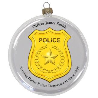 "3 1/2"" Round Police Ornament"