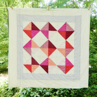 """43"""" x 44"""" Maggie May Patchwork Unisex Baby Quilt"""