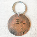 "Copper Disc Trax Pet Tag<br><div class=""desc"">Meet Trax. Trax will do anything for a bone to chew on. Sometimes,  this pursuit will lead him to another dog"
