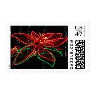 Red and Green Poinsettia Stamp